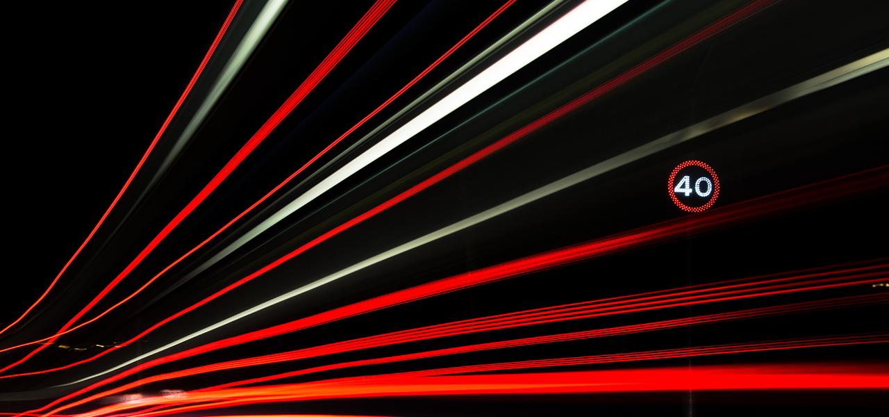 signalisation de route de nuit