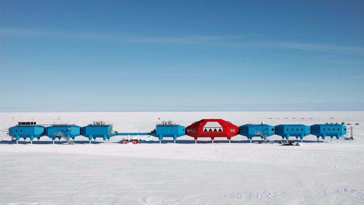Units built on skis in the Antarctic