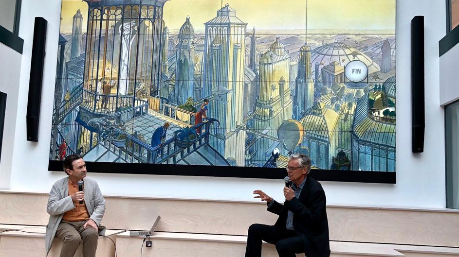 Conférence de Schuiten & Peeters lors du festival Building Beyond - Leonard:Paris