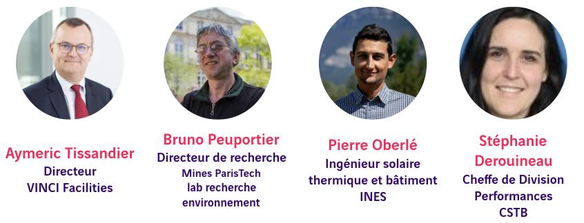 Aymeric Tissandier, Bruno Peuportier, Pierre Oberlé, Stéphanie Derouineau