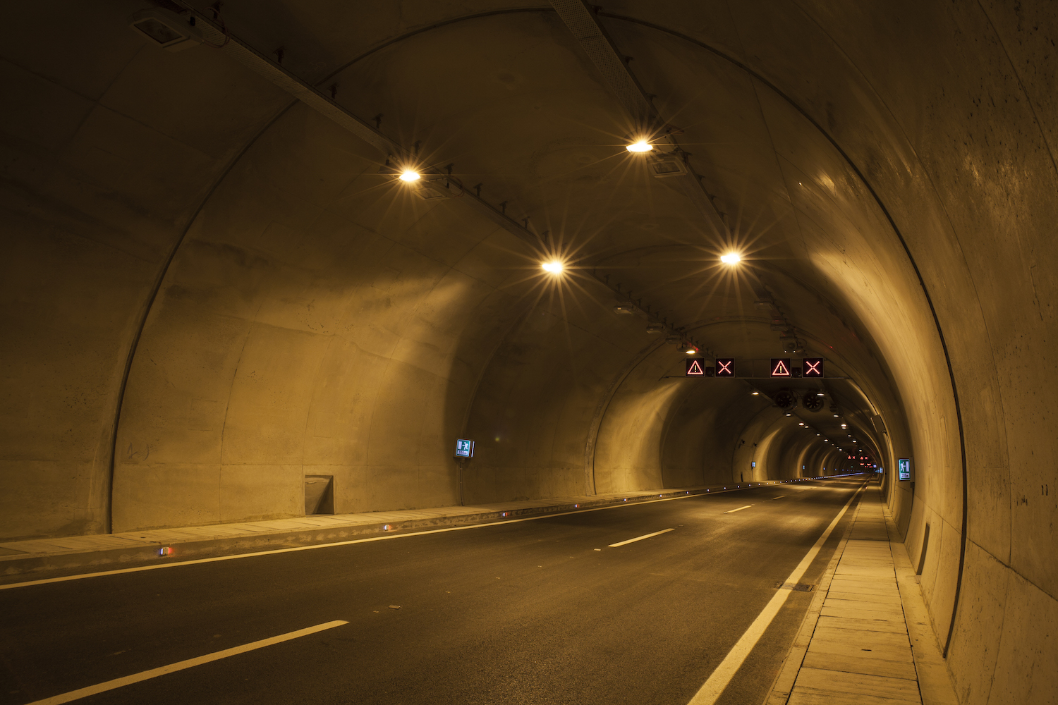 Tunnels which never see the light of day