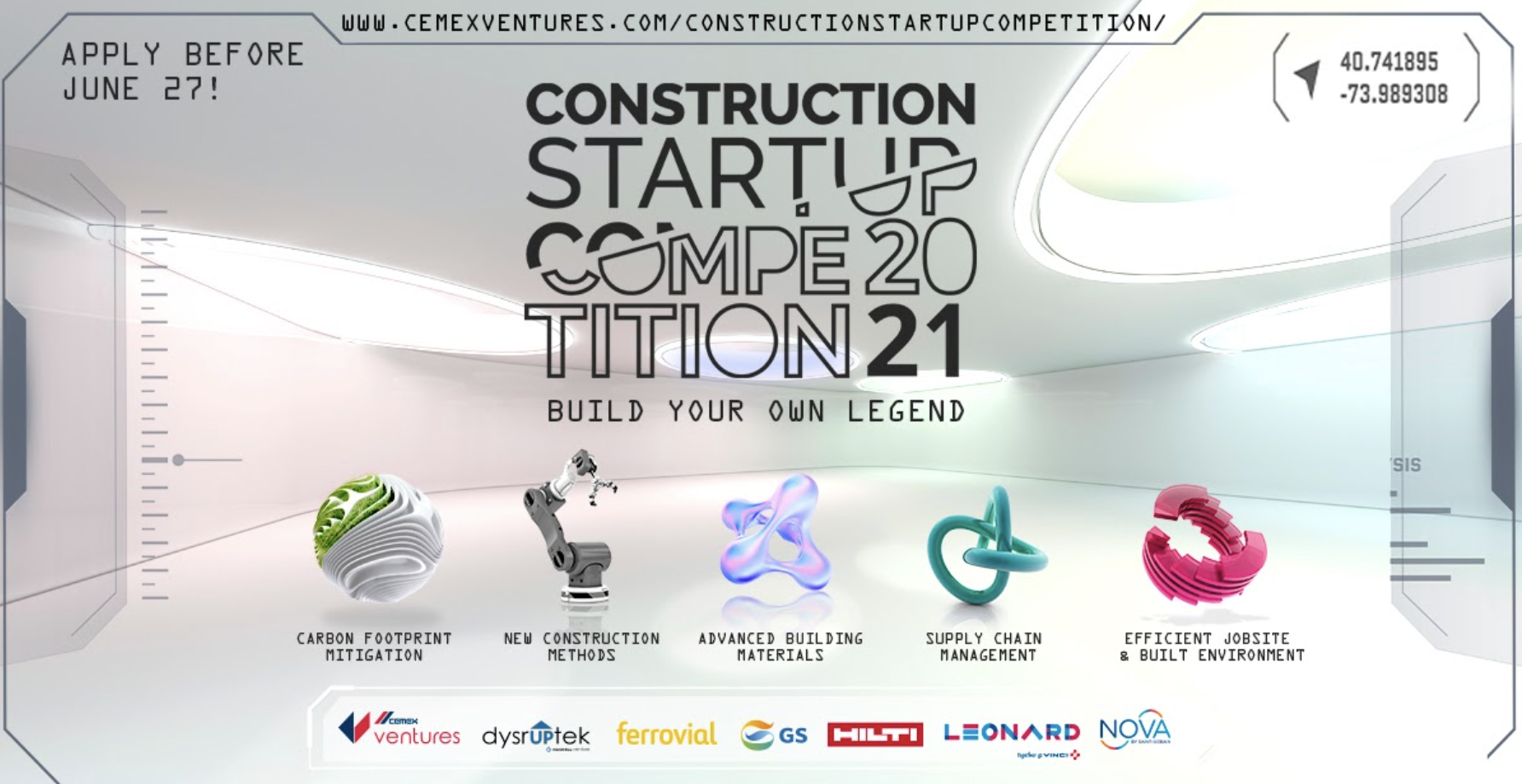 Leonard, a partner in the Construction Startup Competition 2021
