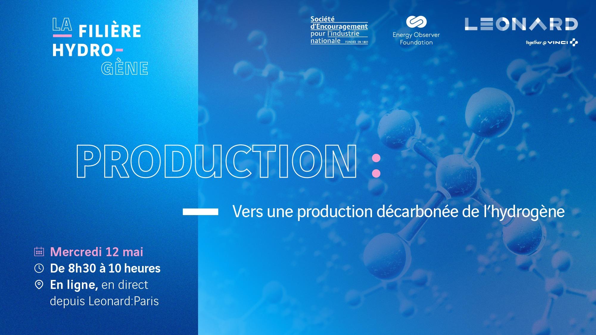 La filière hydrogène : vers une production décarbonée de l'hydrogène